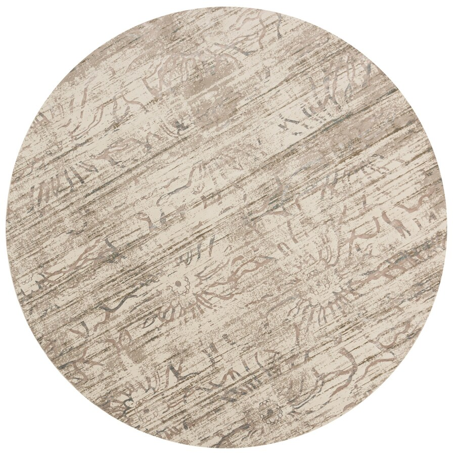 Loloi Kingston Neutral Round Indoor Machine-made Distressed Area Rug (Common:; Actual: W x L x 9.25-ft dia)