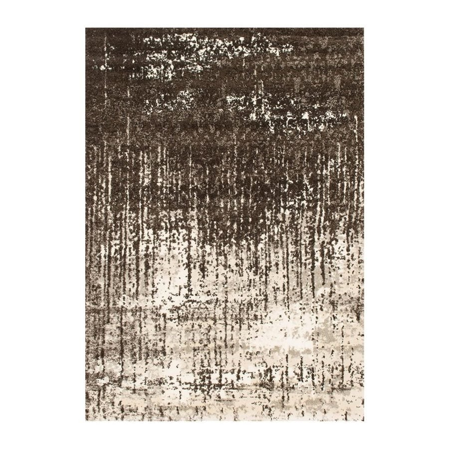 Loloi Viera Brown Rectangular Indoor Machine-made Distressed Area Rug (Common: 5 X 8; Actual: 5.25-ft W x 7.58-ft L)