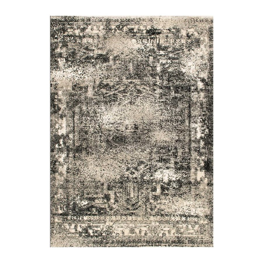 Loloi Viera Ash Rectangular Indoor Machine-made Distressed Area Rug (Common: 5 X 8; Actual: 5.25-ft W x 7.58-ft L)