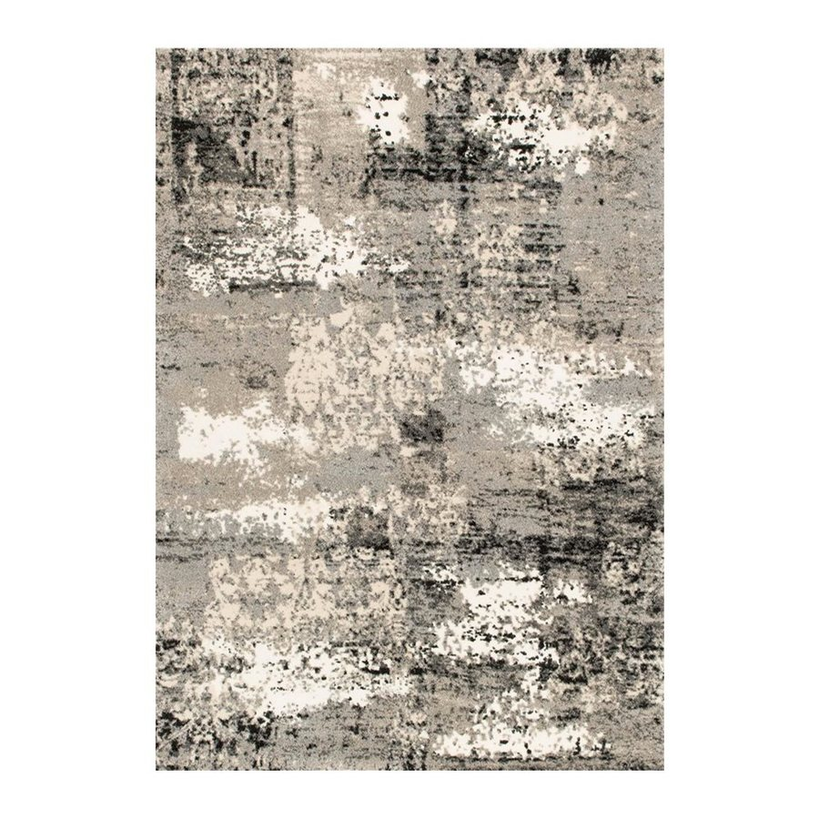 Loloi Viera Grey Rectangular Indoor Machine-made Distressed Area Rug (Common: 4 X 6; Actual: 3.83-ft W x 5.58-ft L)