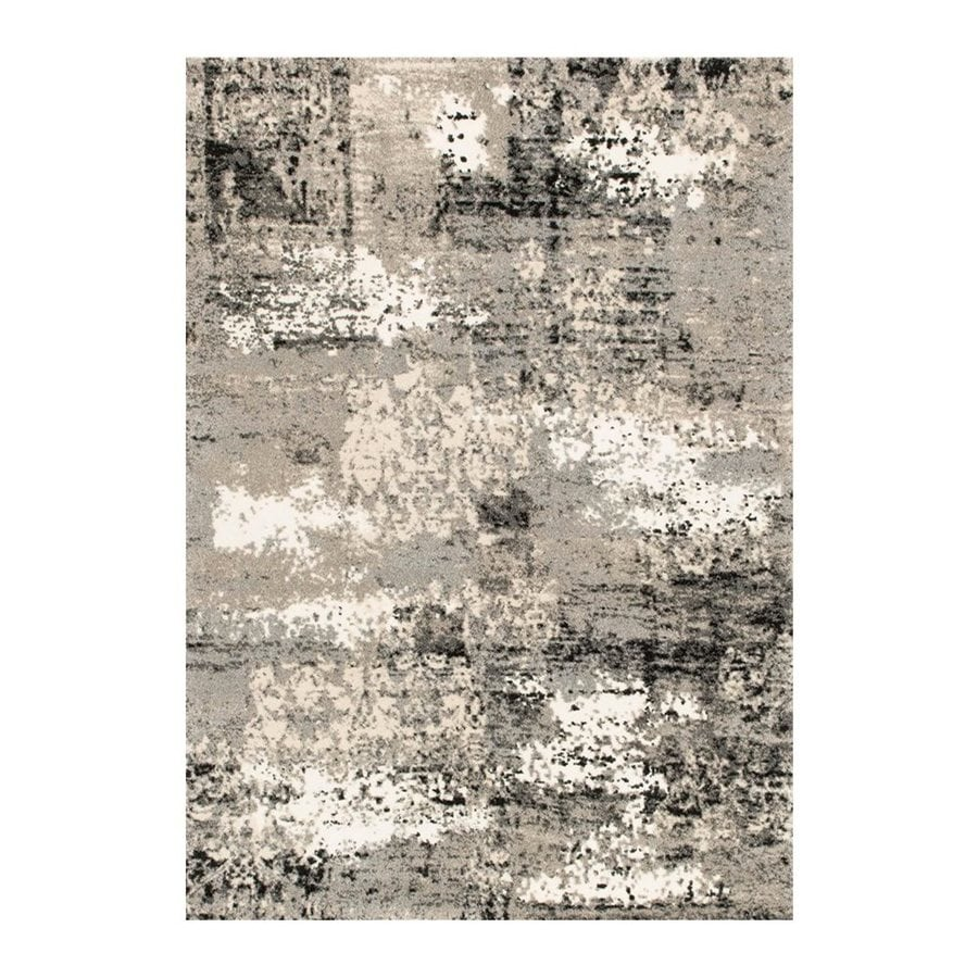 Loloi Viera Grey Rectangular Indoor Machine-made Distressed Area Rug (Common: 5 X 8; Actual: 5.25-ft W x 7.58-ft L)