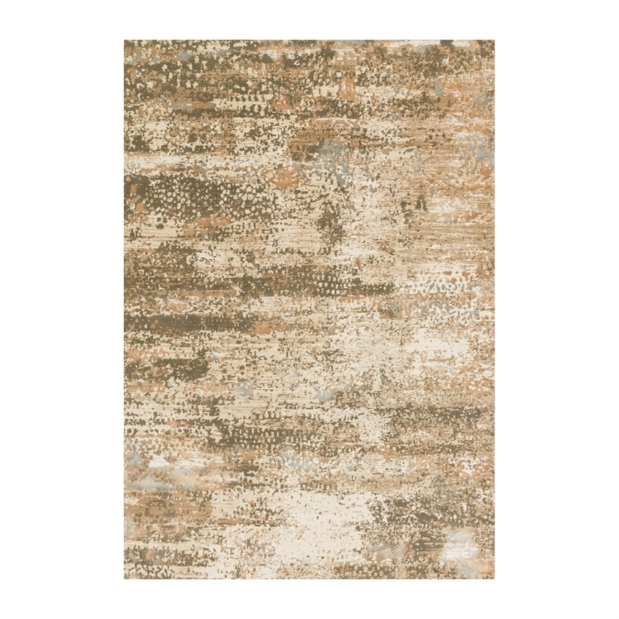 Loloi Kingston Ivory/camel Rectangular Indoor Machine-made Distressed Area Rug (Common: 6 X 9; Actual: 6.58-ft W x 9.16-ft L)