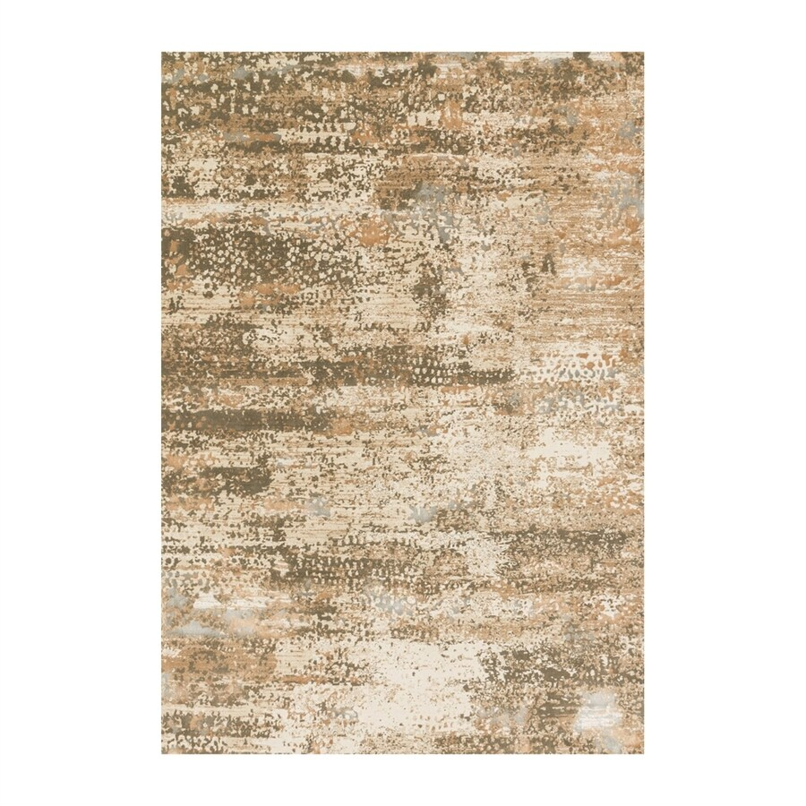 Loloi Kingston Ivory/camel Rectangular Indoor Machine-made Distressed Area Rug (Common: 8 X 11; Actual: 7.83-ft W x 10.83-ft L)
