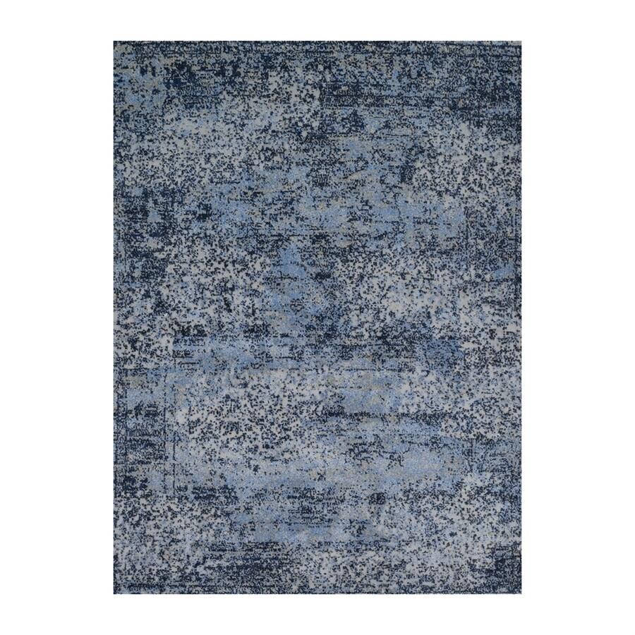 Loloi Viera Light blue Rectangular Indoor Machine-made Distressed Area Rug (Common: 4 X 6; Actual: 3.83-ft W x 5.58-ft L)