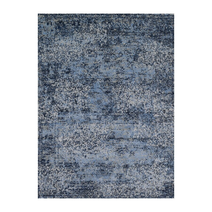 Loloi Viera Light blue Rectangular Indoor Machine-made Distressed Area Rug (Common: 9 X 13; Actual: 9.16-ft W x 12.58-ft L)