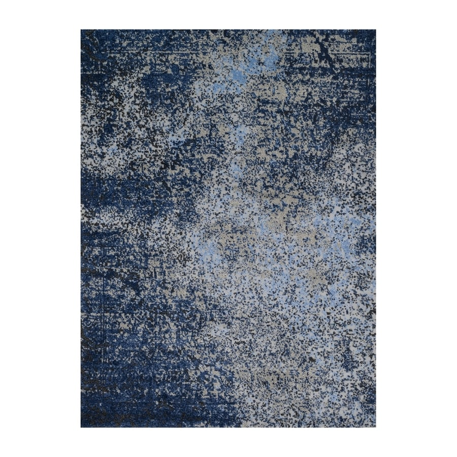 Loloi Viera Navy Rectangular Indoor Machine-made Distressed Area Rug (Common: 5 X 8; Actual: 5.25-ft W x 7.58-ft L)