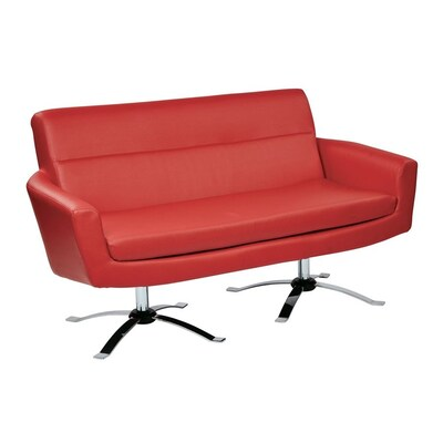 Excellent Office Star Ave Six Nova Modern Red Faux Leather Loveseat At Evergreenethics Interior Chair Design Evergreenethicsorg