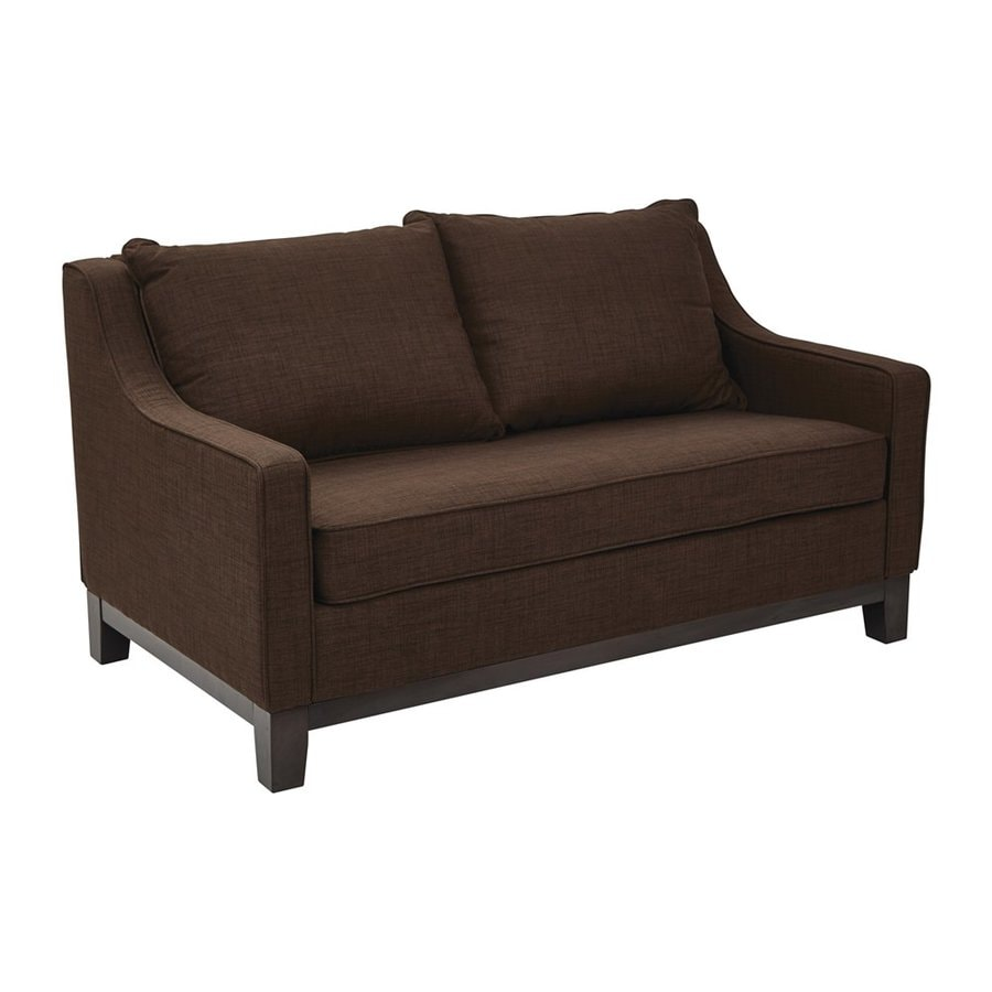 Shop Office Star Ave Six Regent Casual Java Loveseat At