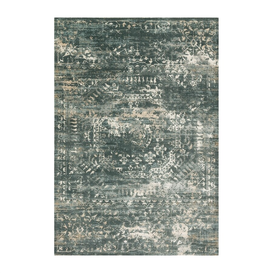 Loloi Kingston Storm Rectangular Indoor Machine-made Distressed Area Rug (Common: 4 X 5; Actual: 3.83-ft W x 5.58-ft L)