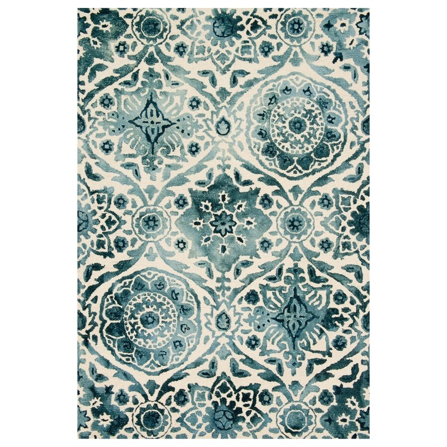 Loloi Viola Indigo Rectangular Indoor Handcrafted Distressed Area Rug (Common: 9 X 13; Actual: 9.25-ft W x 13-ft L)