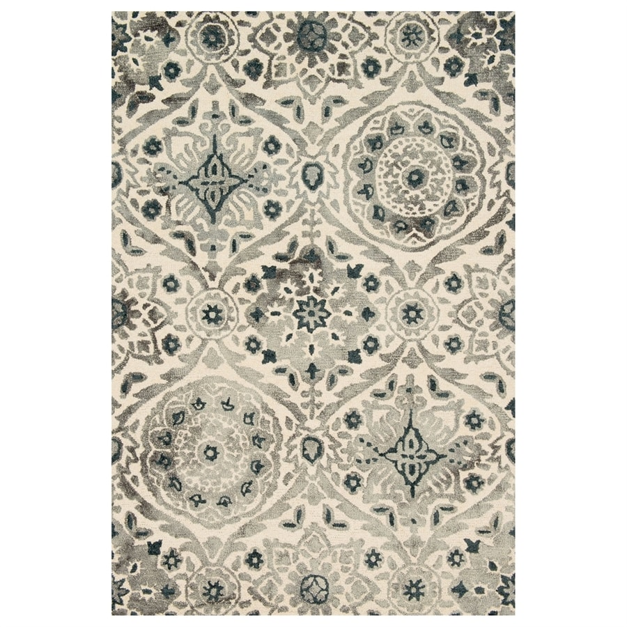Loloi Viola Slate Rectangular Indoor Handcrafted Distressed Area Rug (Common: 4 X 6; Actual: 3.5-ft W x 5.5-ft L)