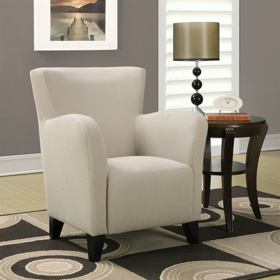 Monarch Specialties Europa Casual Taupe Cotton Club Chair