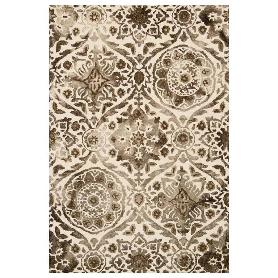 Loloi Viola Taupe Rectangular Indoor Handcrafted Distressed Area Rug (Common: 4 X 6; Actual: 3.5-ft W x 5.5-ft L)