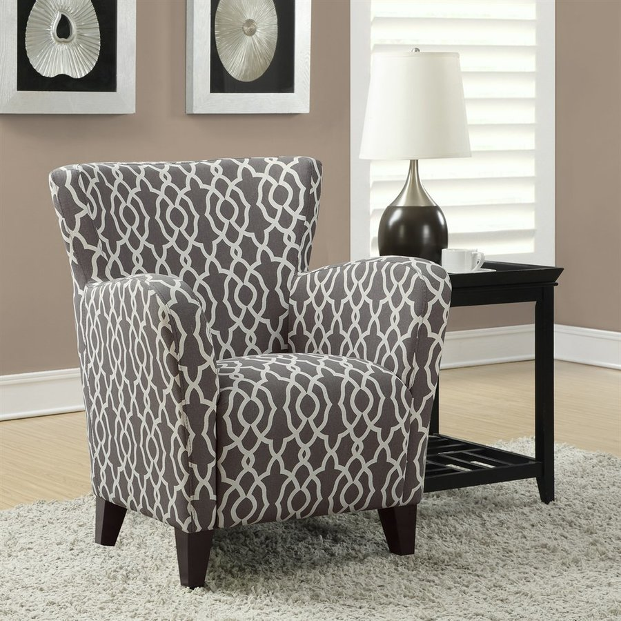 Monarch Specialties Europa Casual Gray/Beige Club Chair