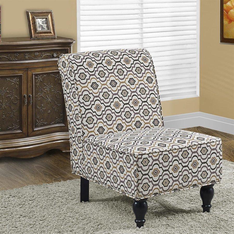 Monarch Specialties Casual Earth Tone Slipper Chair