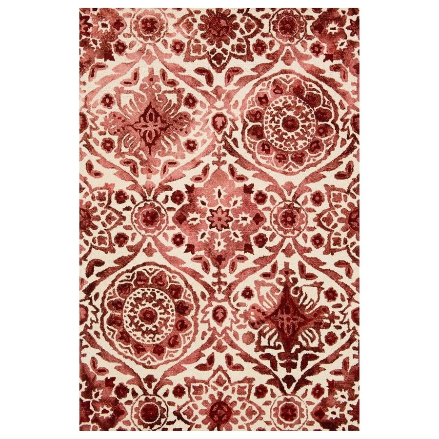Loloi Viola Wine Rectangular Indoor Handcrafted Distressed Area Rug (Common: 2 X 4; Actual: 2.25-ft W x 3.75-ft L)