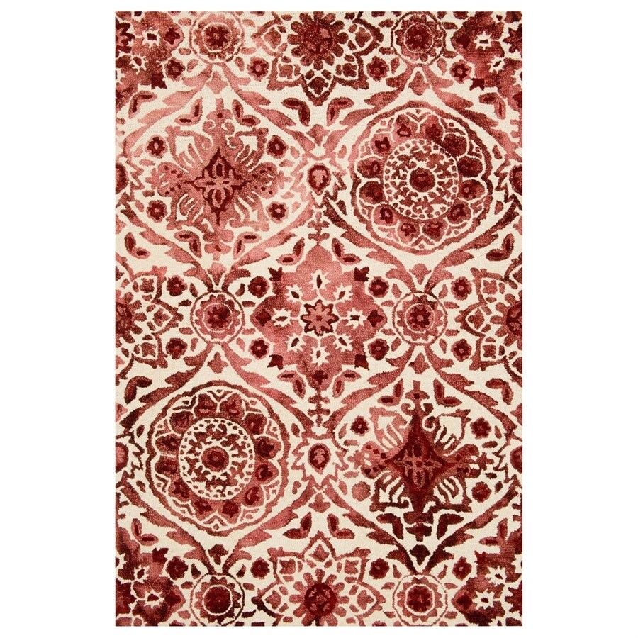 Loloi Viola Wine Rectangular Indoor Handcrafted Distressed Area Rug (Common: 4 X 6; Actual: 3.5-ft W x 5.5-ft L)