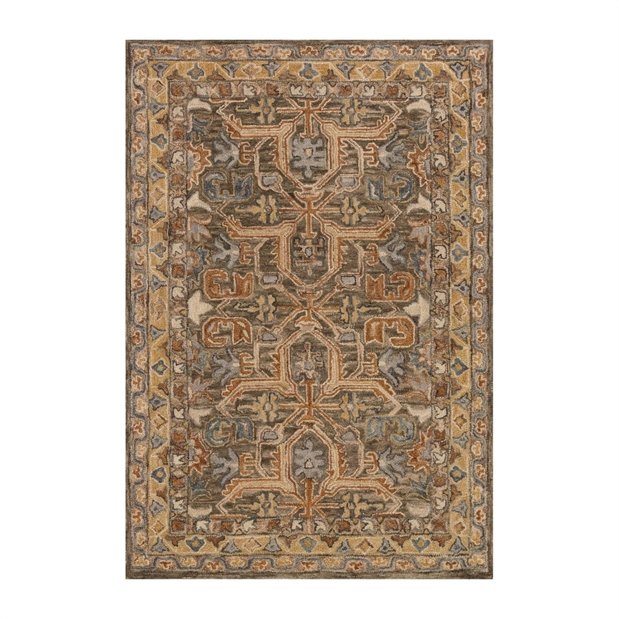 Loloi Victoria Walnut Rectangular Indoor Handcrafted Lodge Area Rug (Common: 5 X 8; Actual: 5-ft W x 7.5-ft L)
