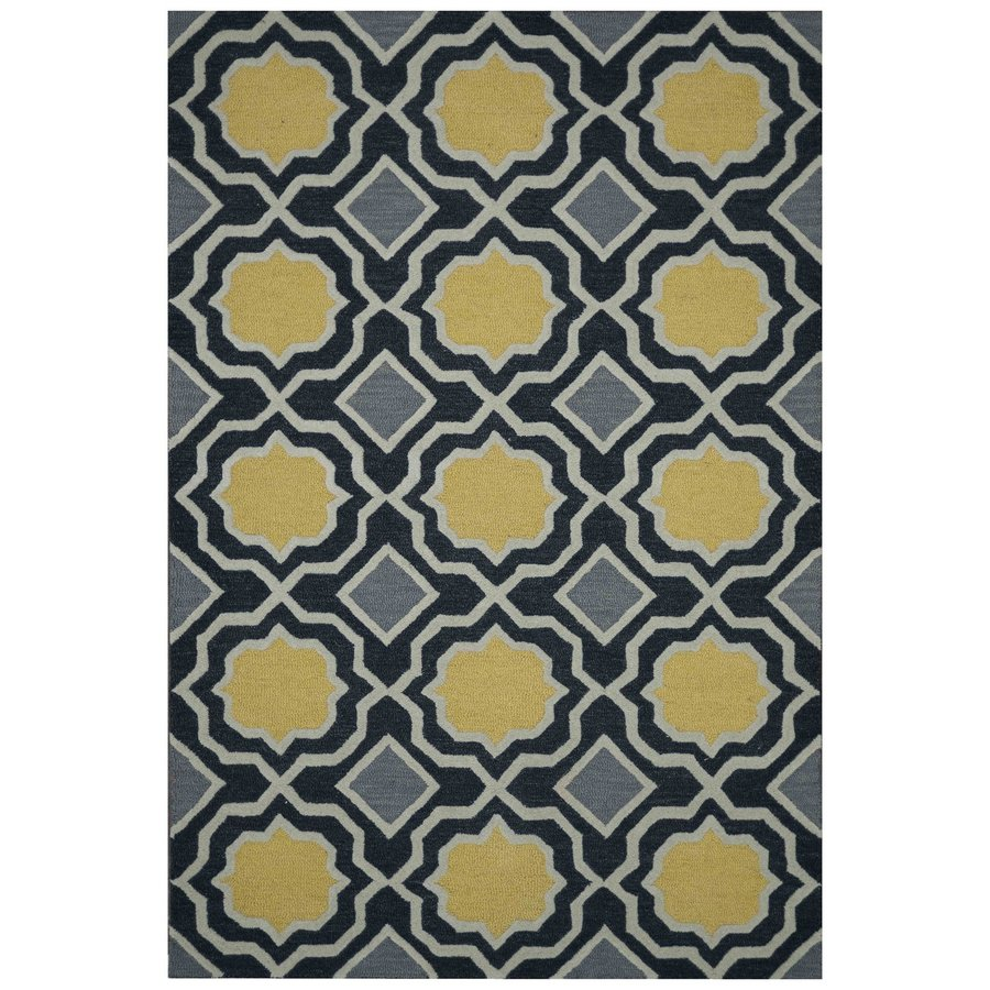 Loloi Weston Charcoal Rectangular Indoor Handcrafted Area Rug (Common: 5 X 8; Actual: 5-ft W x 7.5-ft L)