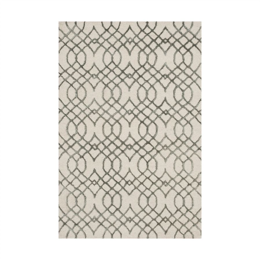 Loloi Panache Ivory/grey Rectangular Indoor Handcrafted Area Rug (Common: 3 X 5; Actual: 3.5-ft W x 5.5-ft L)