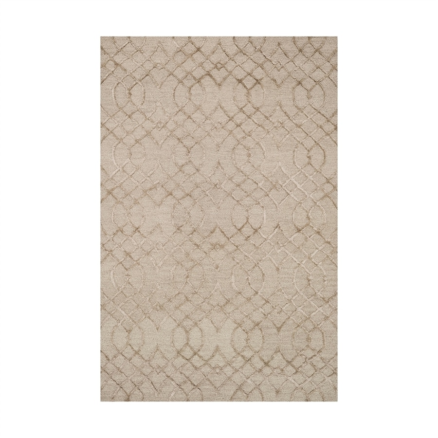 Loloi Panache Taupe Rectangular Indoor Handcrafted Distressed Area Rug (Common: 3 X 5; Actual: 3.5-ft W x 5.5-ft L)