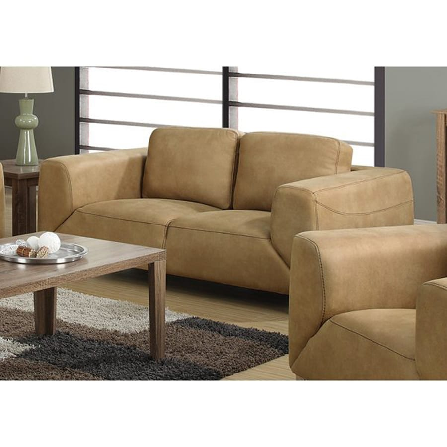 suede interior loveseat micro sofa tan couch microfiber and