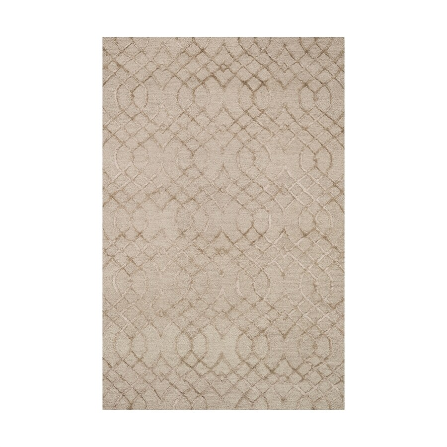 Loloi Panache Taupe Rectangular Indoor Handcrafted Distressed Area Rug (Common: 9 X 13; Actual: 9.25-ft W x 13-ft L)