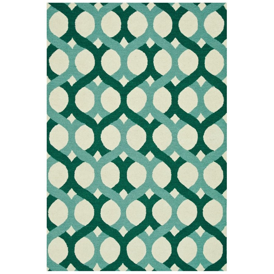 Loloi Weston Green Rectangular Indoor Handcrafted Area Rug (Common: 8 X 10; Actual: 7.75-ft W x 9.75-ft L)