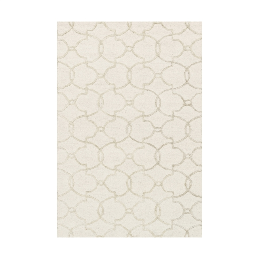 Loloi Panache Ivory/silver Rectangular Indoor Handcrafted Area Rug (Common: 3 X 5; Actual: 3.5-ft W x 5.5-ft L)