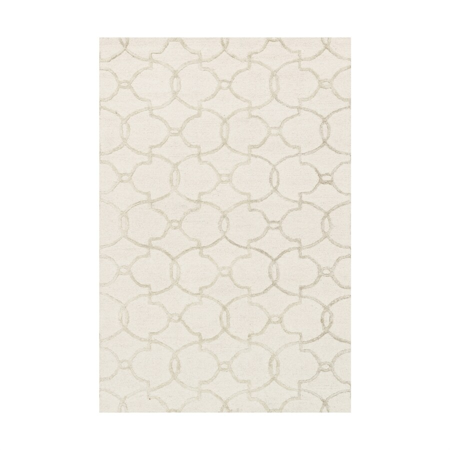 Loloi Panache Ivory/silver Rectangular Indoor Handcrafted Area Rug (Common: 5 X 7; Actual: 5-ft W x 7.5-ft L)