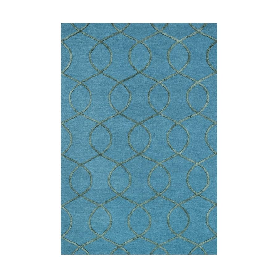 Loloi Panache Ocean/green Rectangular Indoor Handcrafted Runner (Common: 2 X 7; Actual: 2.25-ft W x 7.5-ft L)