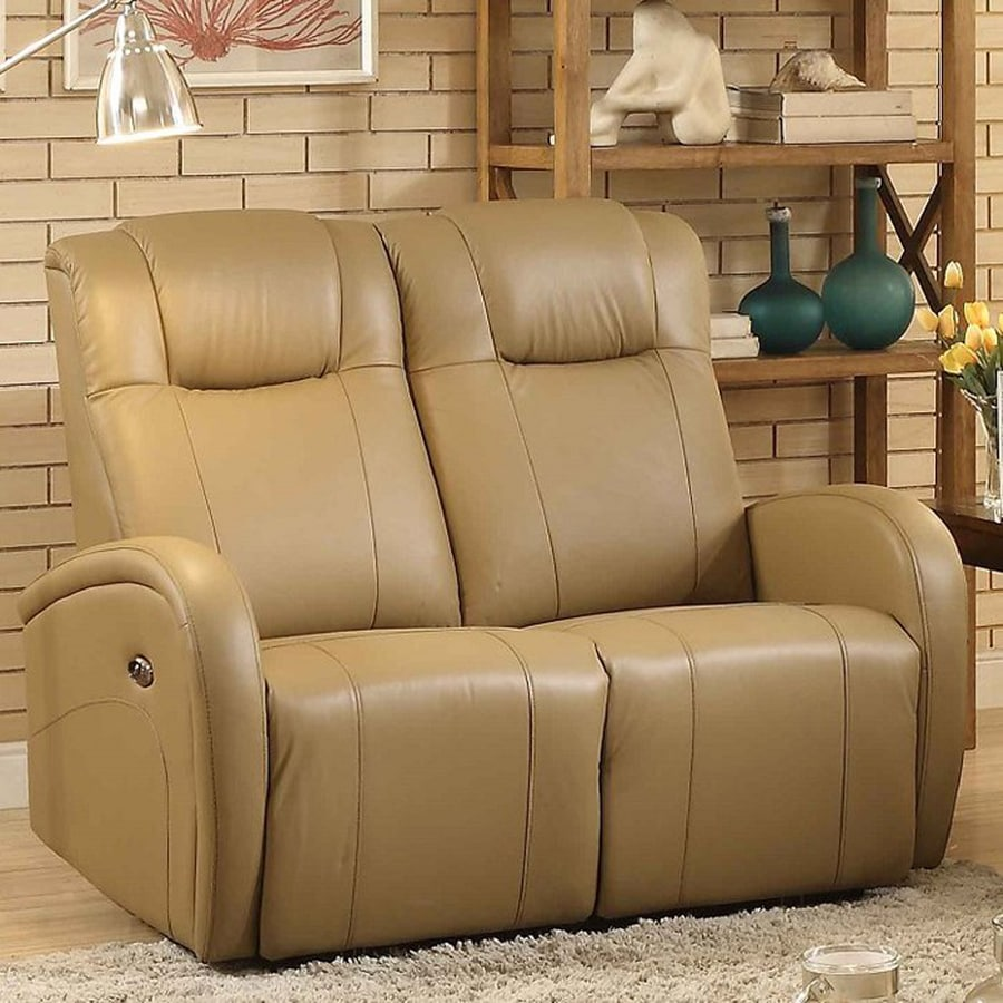 Sunset Trading Easy Living Casual Tan Genuine Leather Reclining Loveseat