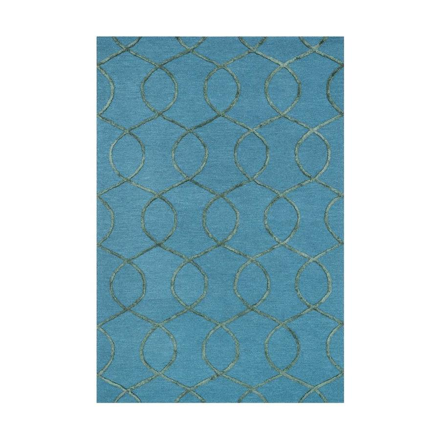 Loloi Panache Ocean/green Rectangular Indoor Handcrafted Area Rug (Common: 3 X 5; Actual: 3.5-ft W x 5.5-ft L)