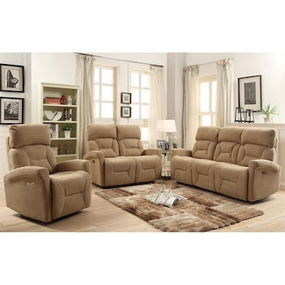 Sunset Trading 3-Piece Easy Living Light Tan Living Room Set ...