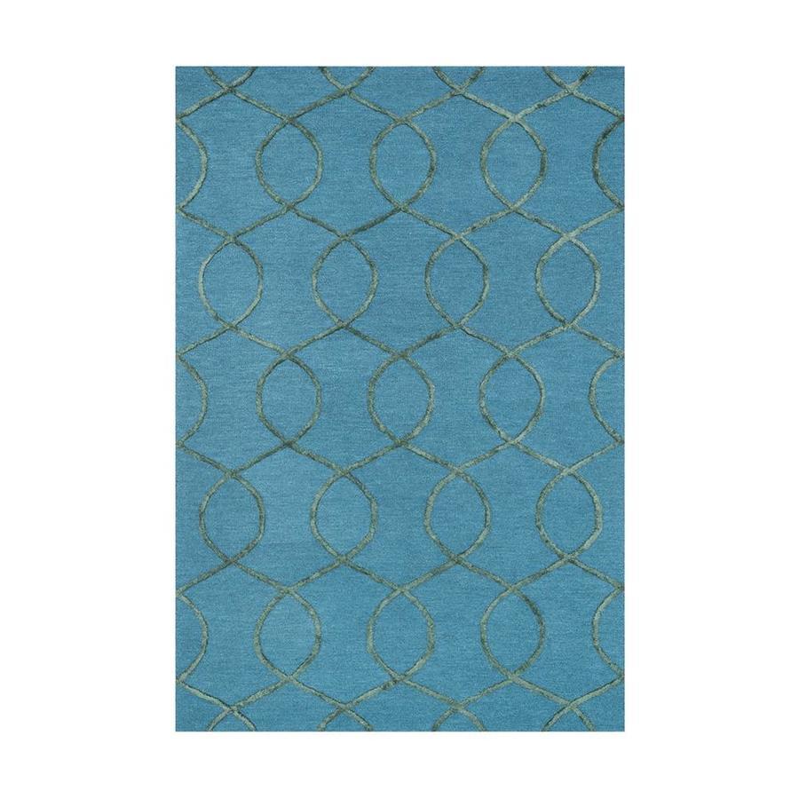 Loloi Panache Ocean/green Rectangular Indoor Handcrafted Area Rug (Common: 5 X 7; Actual: 5-ft W x 7.5-ft L)