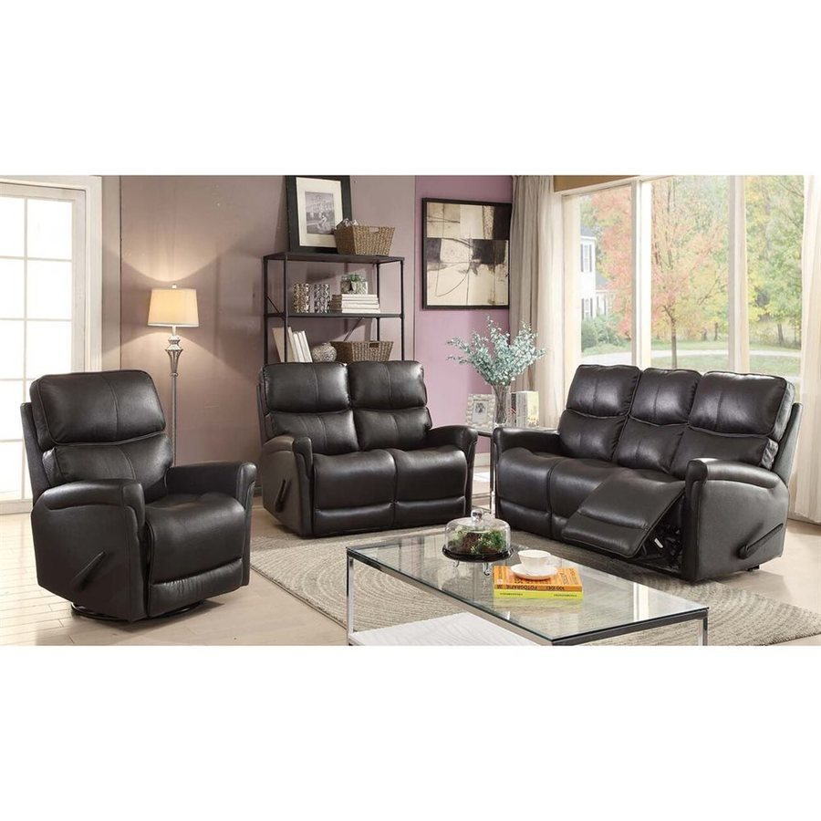 Sunset Trading 3-Piece Easy Living Charcoal Grey Living Room Set