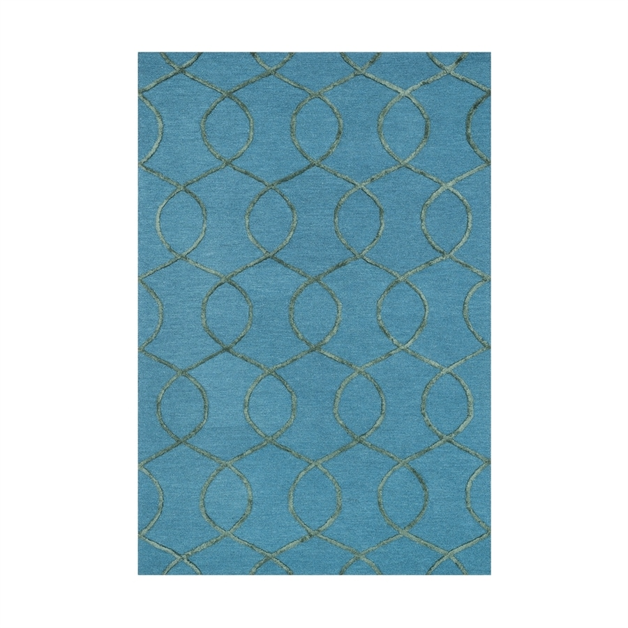 Loloi Panache Ocean/green Rectangular Indoor Handcrafted Area Rug (Common: 9 X 13; Actual: 9.25-ft W x 13-ft L)