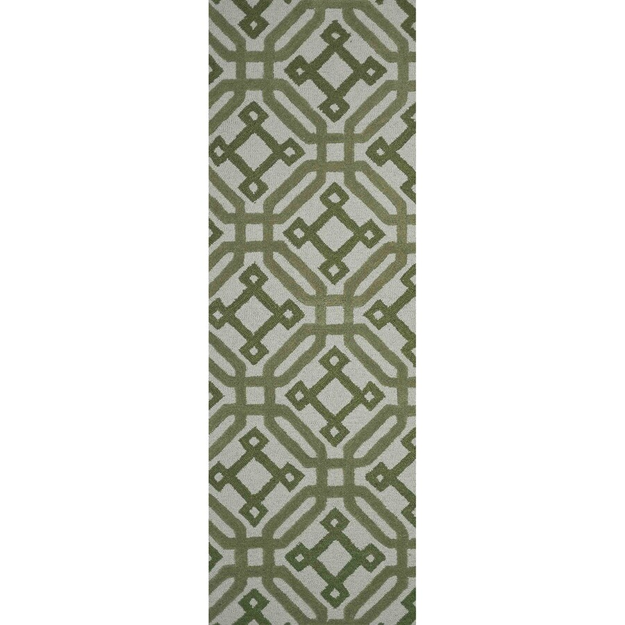 Loloi Weston Green Rectangular Indoor Handcrafted Runner (Common: 2 X 8; Actual: 2.25-ft W x 7.5-ft L)