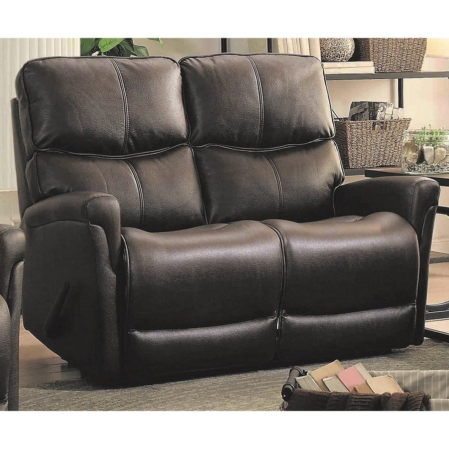Sunset Trading Easy Living Casual Brown Faux Leather Reclining Loveseat