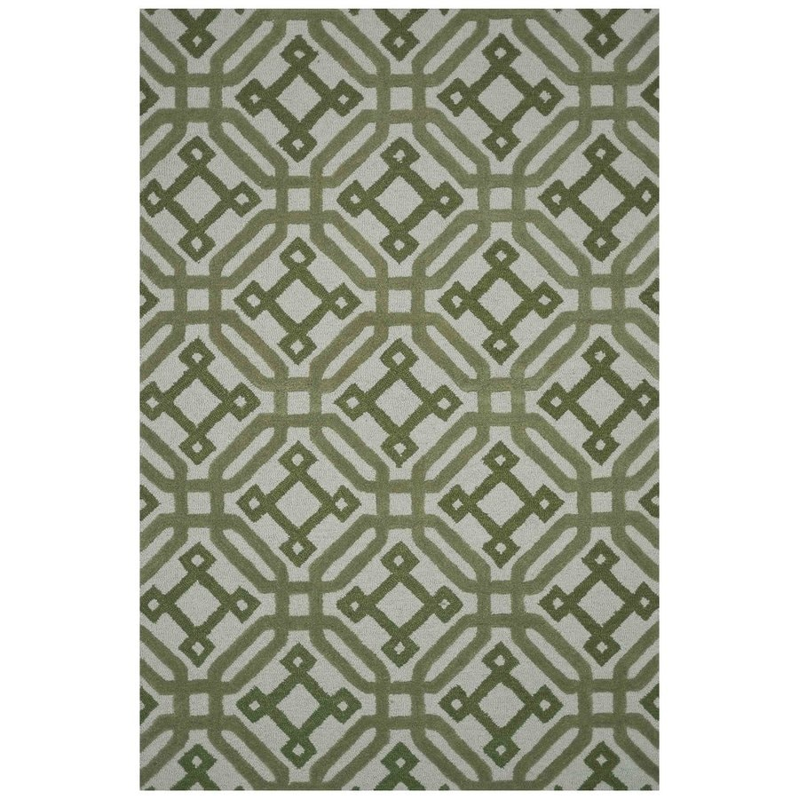 Loloi Weston Green Rectangular Indoor Handcrafted Area Rug (Common: 4 X 6; Actual: 3.5-ft W x 5.5-ft L)
