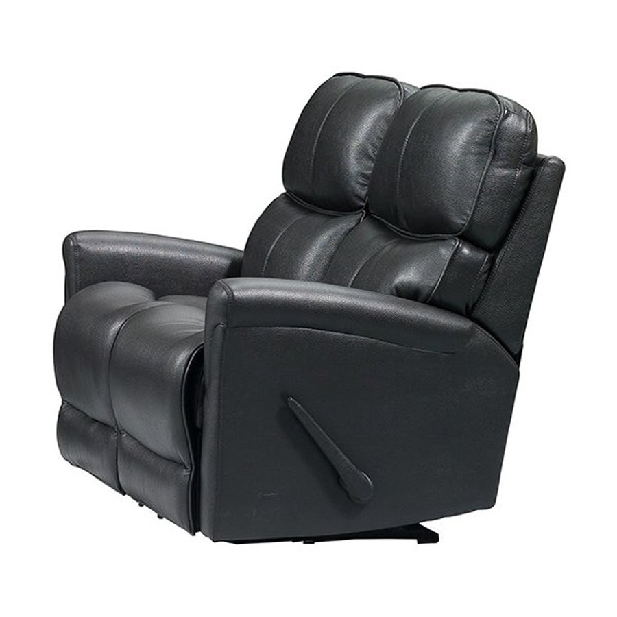 Sunset Trading Easy Living Casual Charcoal Grey Faux Leather Reclining Loveseat