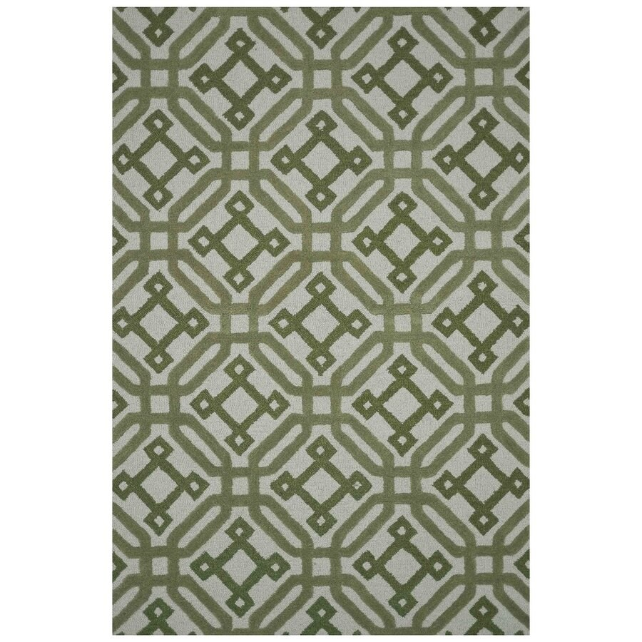Loloi Weston Green Rectangular Indoor Handcrafted Area Rug (Common: 5 X 8; Actual: 5-ft W x 7.5-ft L)
