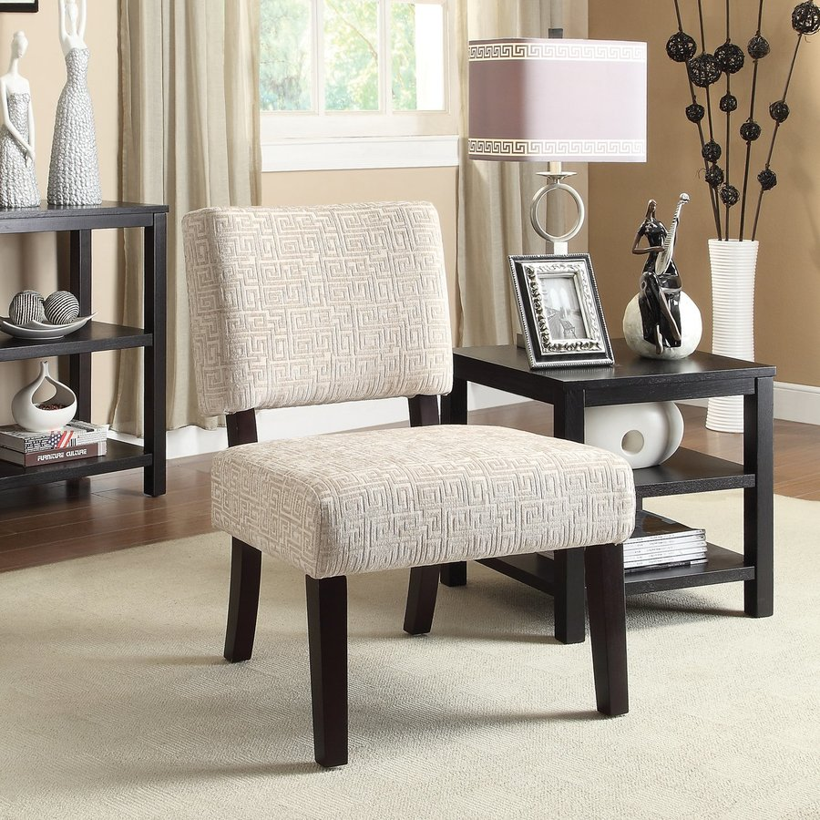 Office Star Jasmine Casual Maze Oyster Accent Chair