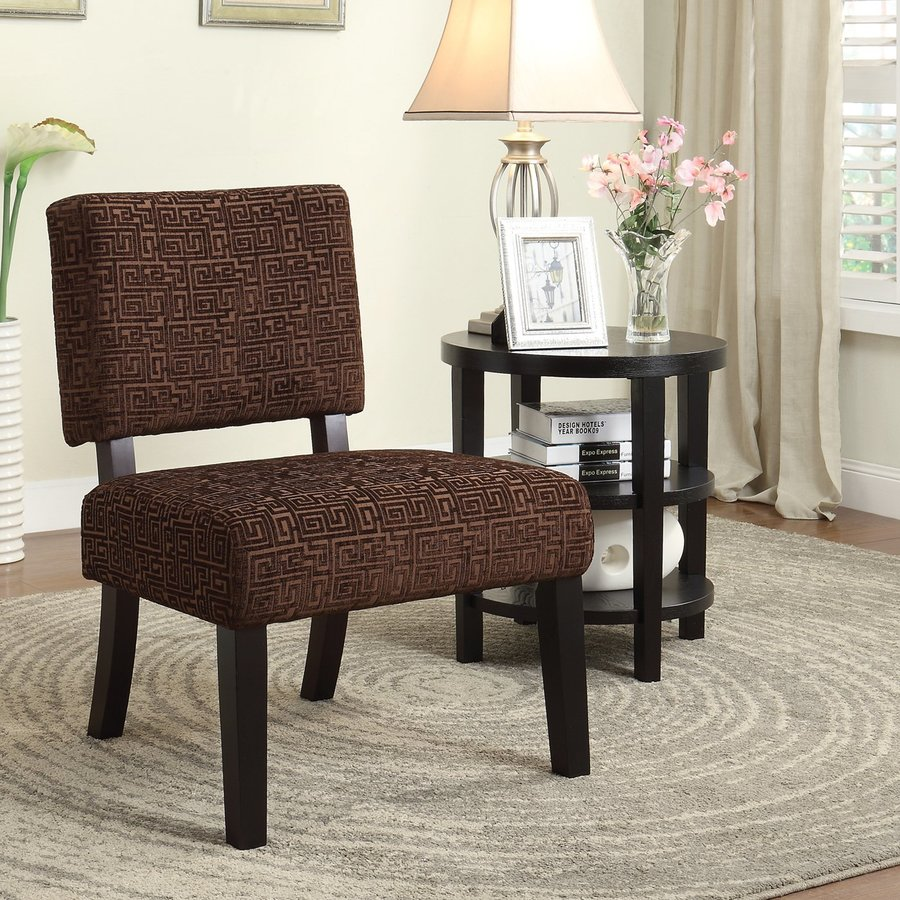 Office Star Jasmine Casual Maze Chocolate Accent Chair