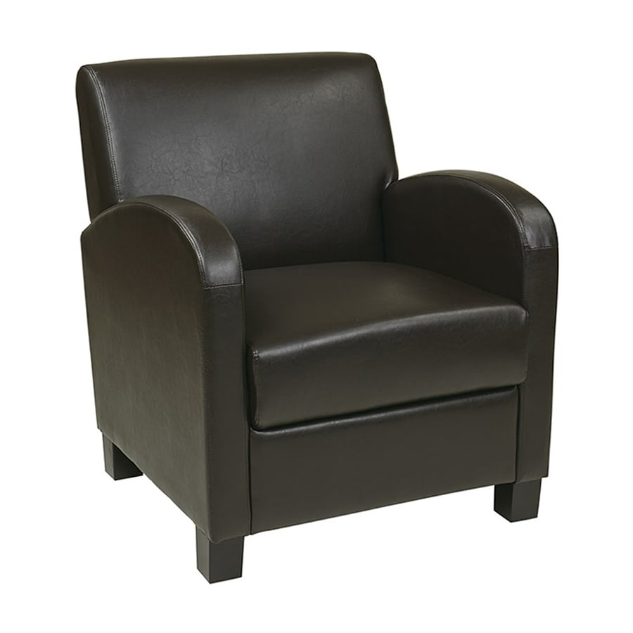 Office Star Metro Casual Espresso Faux Leather Club Chair