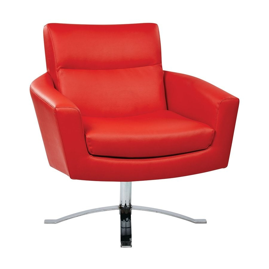 Office Star Nova Modern Red Faux Leather Accent Chair