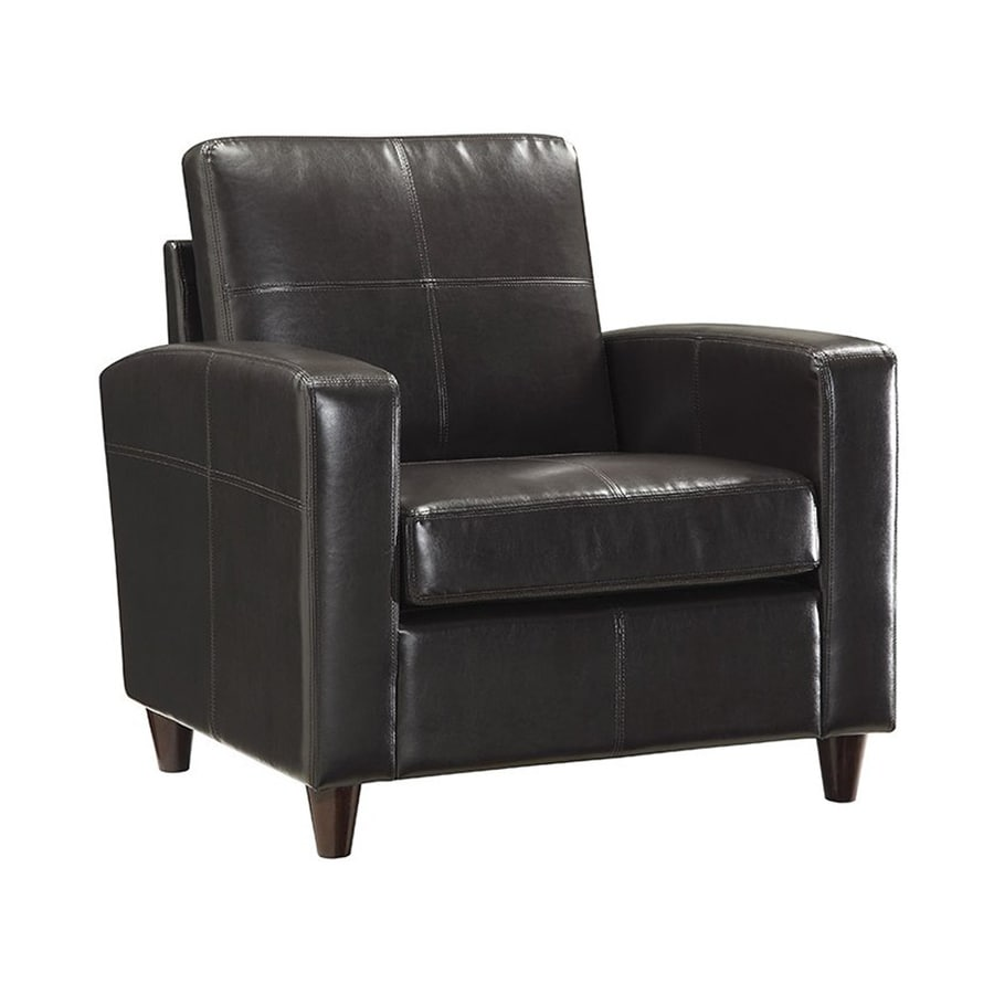 Office Star OSP Furniture Casual Espresso Faux Leather Club Chair