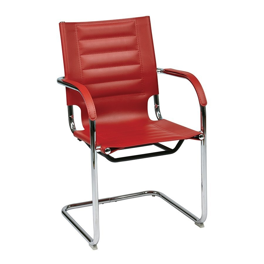 Office Star 1-Piece Trinidad Red Reception Chair