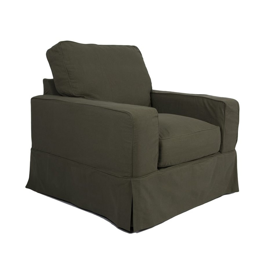 Sunset Trading Americana Casual Forest Green Club Chair