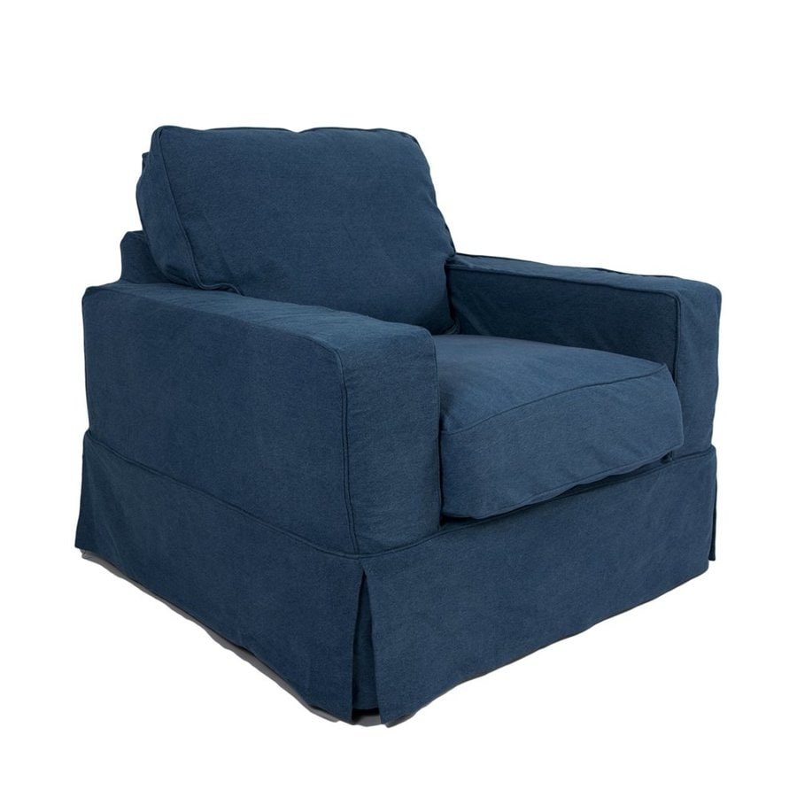 Sunset Trading Americana Casual Indigo Blue Club Chair